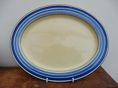 Grays Pottery Banded Small Oval Plate C1933  • 7£