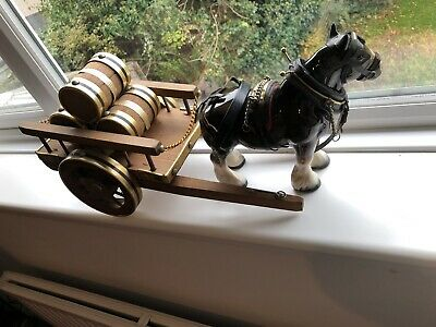 VINTAGE  MELBA WARE  SHIRE HORSE AND Cart • 24£