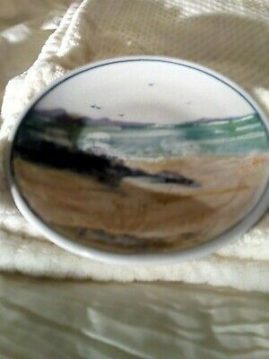 Highland Stoneware Hand Painted  PLATE 7 3/4 INCHES • 13£