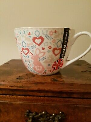 Portobello By Design Brand Bunny Love Large Mug NEW With Labels • 1.99£