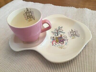 Vintage 'Dancing Days' By Beswick Cup And Saucer • 5.30£
