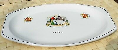 J & G MEAKIN Ironstone Serving Plate  Amroth  Souvenir Of Wales • 5.99£