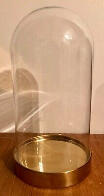 Glass Dome And Gold Coloured Circular Plinth • 10£