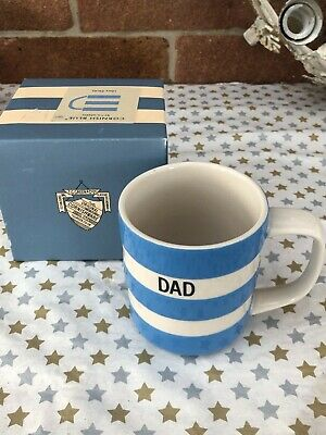Vintage Cornish Blue Mug By T.G.Green 'Dad' 10 Oz Boxed And Unused Cornishware • 19.50£
