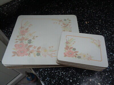 Boots Hedge Rose Placemats And Coasters X 6 • 20£