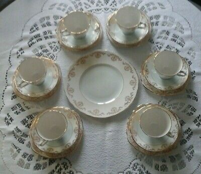 ROYAL VALE China Set, 6 Cups, Saucers, Side Plates And Large Serving Plate • 30£