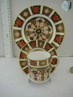 Rare Vintage Royal Crown Derby 1128 Old Imari Trio Coffee Can Saucer And Plate • 89.99£
