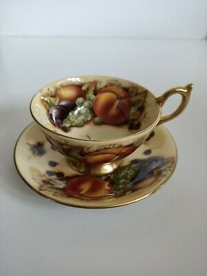 Aynsley Orchard Gold Tea Cup And Saucer • 35£