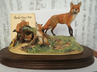 Border Fine Arts Fox And Family Limited Edition No 1500 Of 1500 - David Geenty - • 125£