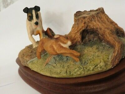 Border Fine Arts Terrier And Rabbit -anne Wall 1981 • 40£