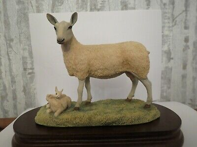 Border Fine Arts Blue Face Leicester Ewe And Lambs 1981 Ray Ayres Ltd Ed 232 • 150£