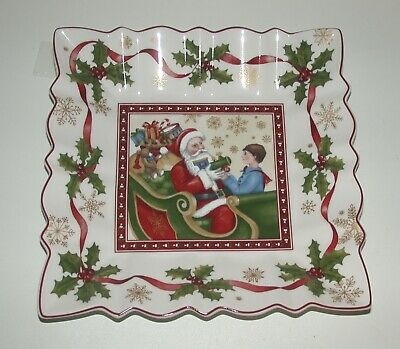 Villeroy & Boch  9   Square Christmas Bowl  Father Christmas New  • 18.99£