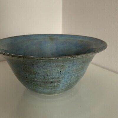 Handmade In London Medium Blue Bowl One Of A Kind Anthropology Style • 18£
