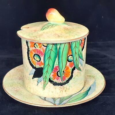 CARLTON WARE 'Gum Flower' 3790 Art Deco  PRESERVE POT & UNDERPLATE • 21£