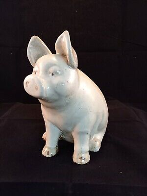 Large Glazed Pottery Pig Well Made FREE P&P  • 18£