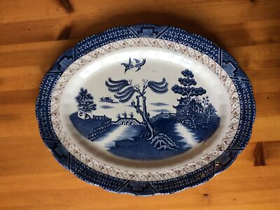 Booths Real Old Willow Oval Plate • 7.10£