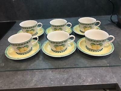 Villeroy And Boch French Garden  Perfect Tea Cups And Saucers • 81£