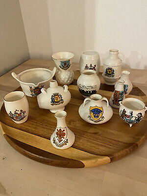 Goss Crested China - 12 Assorted Pieces • 11.50£