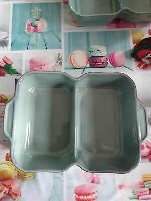 DENBY REGENCY GREEN LARGE RECTANGULAR DIVIDED SERVING DISH. New Condition • 12£