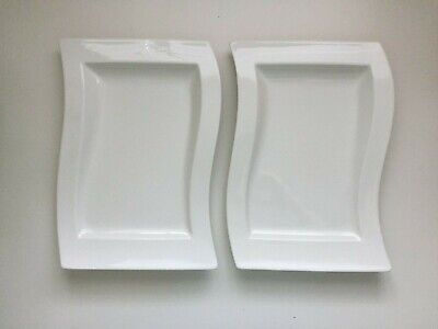 Two Villeroy & Boch New Wave Gourmet Plates, White, 33cm • 20£