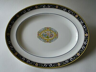 Wedgwood Runnymede Blue 36cm Oval Plate/platter/dish • 49.99£