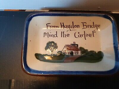 DEVON MOTTO WARE - Lovely Little Pin Tray - 13xm Long • 4.40£