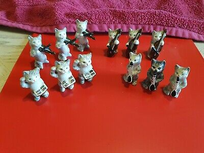 Vintage 12 X BESWICK Cat Band Orchestra Figurines Very Good Condition • 140£