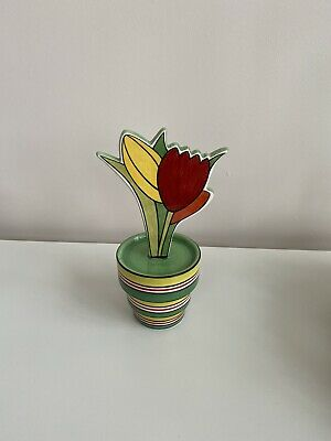 Wedgwood Clarice Cliff 'Tulips And Fern' Flower Pot Limited Edition • 70£