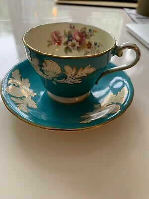 Aynsley Fine Bone China Teacup And Saucer • 17.70£
