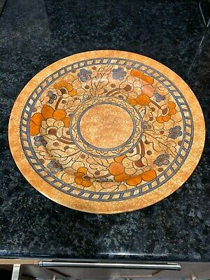 Crown Ducal Tube Lined Charger By Charlotte Rhead, Signed 31cm Diameter • 99.99£