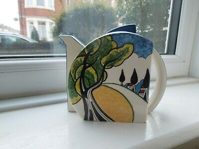 Clarice Cliff May Avenue Wedgwood Stamford Teapot • 195£