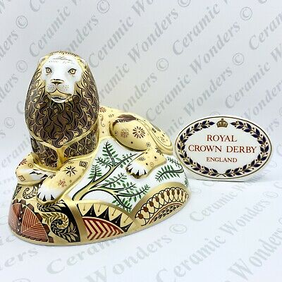 Royal Crown Derby 'The Nemean Lion' Paperweight - Limited Edition - Gold Stopper • 159£
