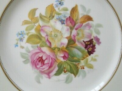 Superb Cauldon S Pope English Roses Dessert Cabinet Plate Hand Painted  #3 • 15£