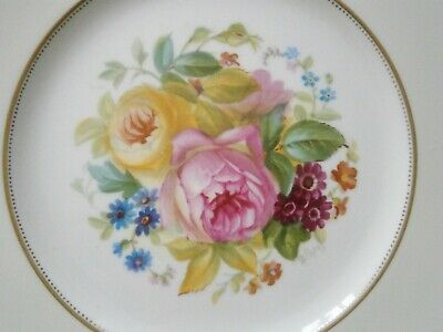 Superb Cauldon S Pope English Roses Dessert Cabinet Plate Hand Painted  #1 • 15£