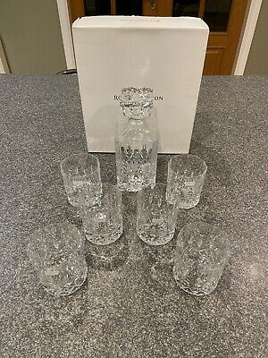 Royal Doulton Decanter & 6 Whisky Tumblers-Boxed. • 66£