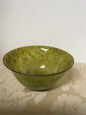 Vintage Glass Bowl - Green Marble Effect  • 8.50£