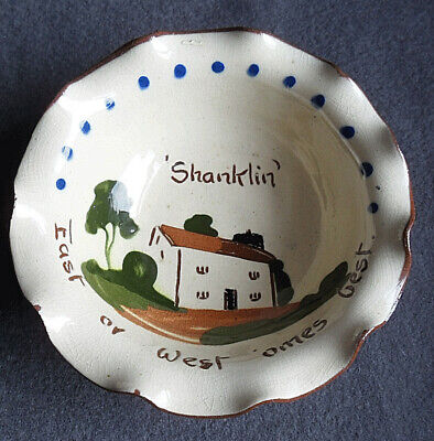 Vintage 1950s Motto Cottage Ware Ashtray 'East Or West 'ome Is Best' - Shanklin • 6.99£