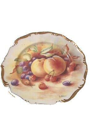 Vintage D Wallace Fruit Cabinet Plates Fenton Bone China        Pp • 4£