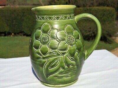 Stunning Rare Antique Bretby Pottery Sunshine Jug Hand Made In England No 3425  • 65£