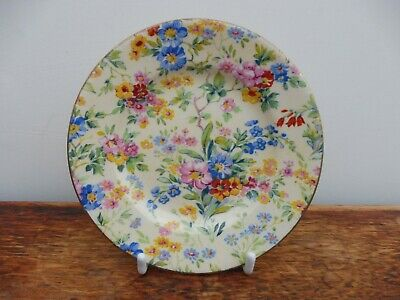 Royal Winton Floral Feast 1930's Small Plate 13 Cm  [ Lot 1 ] • 15£
