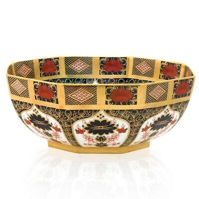 Royal Crown Derby 1st Quality Old Imari SGB Octagonal Bowl, Large 10.5 /26.5cm • 2,200£