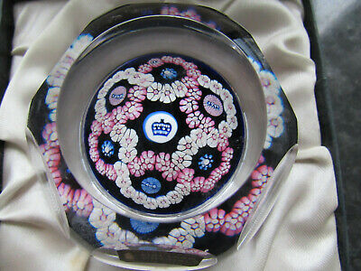 Whitefriars Silver Jubilee Millefiori Paperweight. Boxed With Label..numbered • 50£