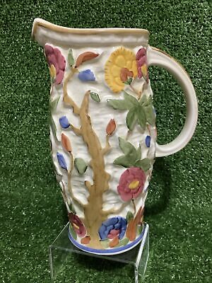 Vintage Indian Tree  H J Wood  Hand Painted & Signed Tall Cordial Jug Mint Cond. • 17.99£
