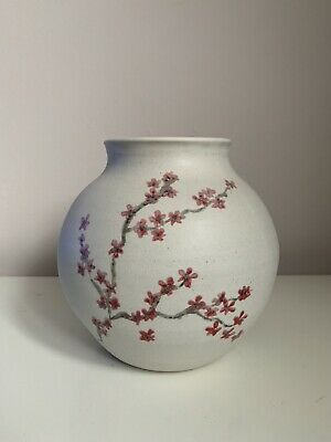 Handmade In London Large Cherry Blossom Moon Jar One Of A Kind • 25£