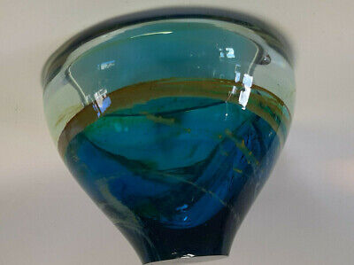 Mdina Bowl In Blues And Greens Signed • 20£