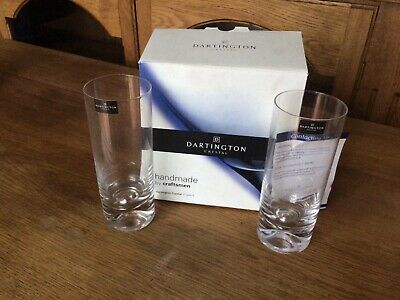 Dartington Crystal  Exmoor Collection Dimple Highball Pair Glasses  In Gift Box • 15£