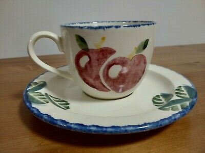 Poole Pottery Teacup And Saucer • 4£