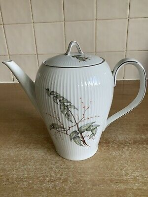 Thomas Rosenthal Grey Leaf Pattern - 18 Cm Coffee Pot • 12£
