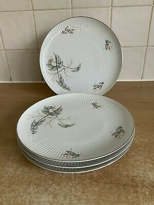 Thomas Rosenthal Grey Leaf Pattern - 4 X 21 Cm Plates • 20£