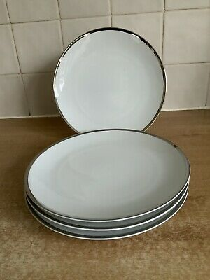 Thomas Wide Platinum  Band Medaillon 4 X 21 Cm Salad Plates • 20£